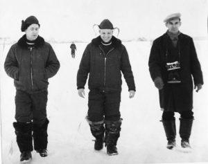 Ю.А. Гагарин на Киржачском аэродроме